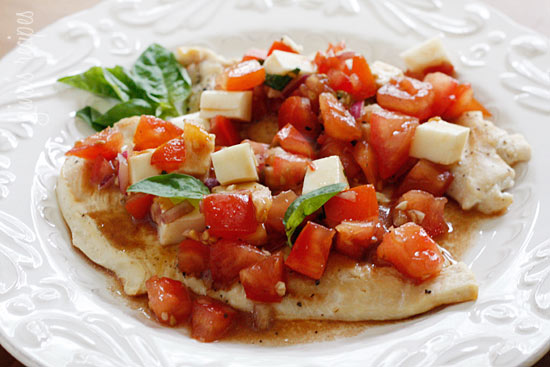 Skinny Taste Grilled Chicken Bruschetta